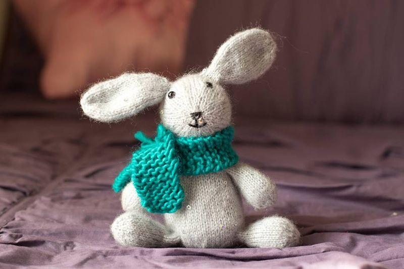 Sock bunny scarf
